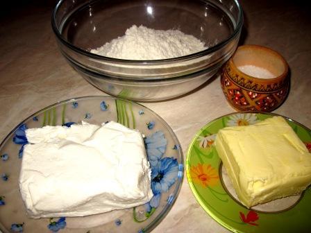печенье быстро из слоеного творожного теста