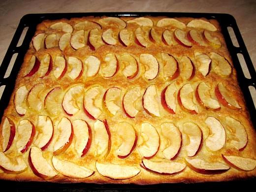 Быстрый пирог песочный с яблоками. Фото рецепт