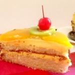 Торт «Бисквитный с фруктами»