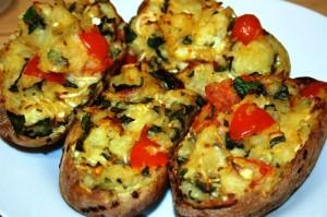 Горячие бутерброды на картофеле