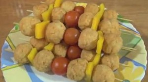 Куриные крокеты с овощами