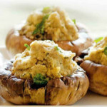 Фаршированные шампиньоны – запеченные грибы под сыром с тмином