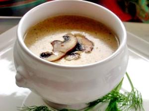 Грибной крем-суп с овсянкой