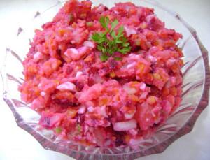 розовый салат с виноградом рецепт