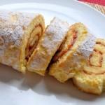 Бисквитный рулет за 5 минут — восхитительный десерт по простому рецепту.