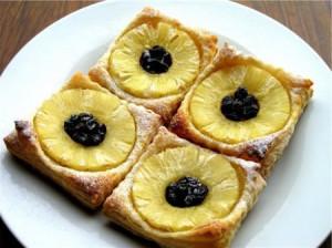 Слойка Подсолнух с ананасовыми кольцами