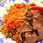 Машкучура – узбекское жаркое из гороха маш под вкусным соусом