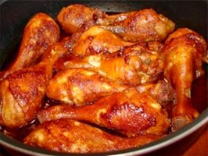 Куриный ножки в соево-медовом соусе