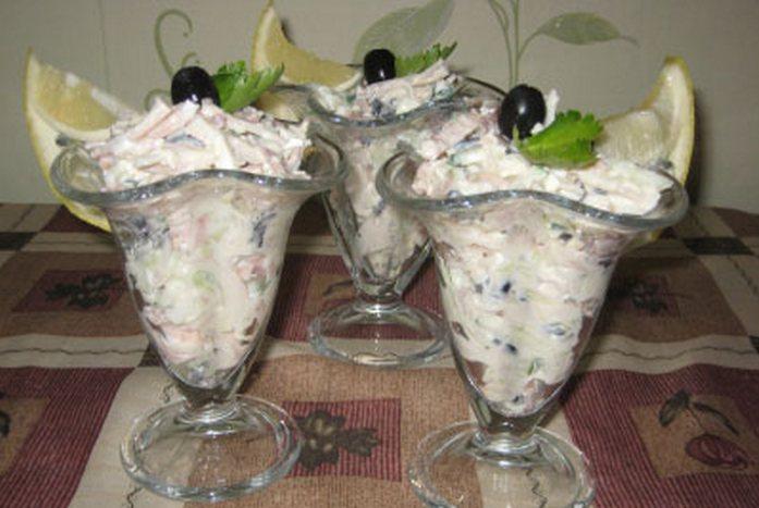 Салат-коктейль для романтического вечера