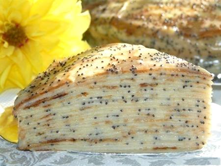 Блинный торт Маковка с заварным кремом без выпекания