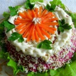 Закусочный торт «Селёдка под шубой»