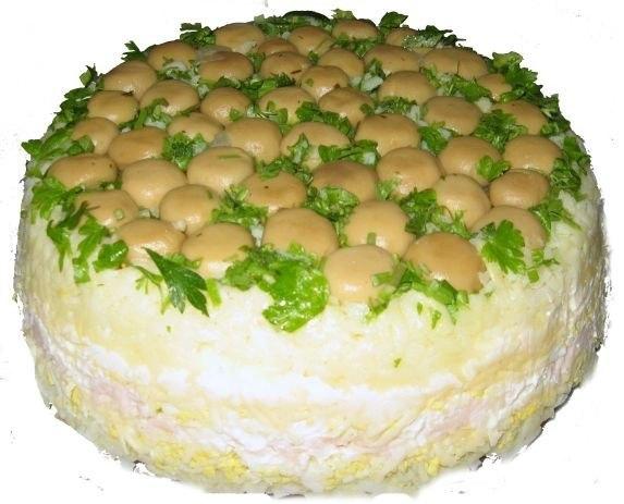 """Торт-салат """"Закусочный"""" - изысканно и очень вкусно"""